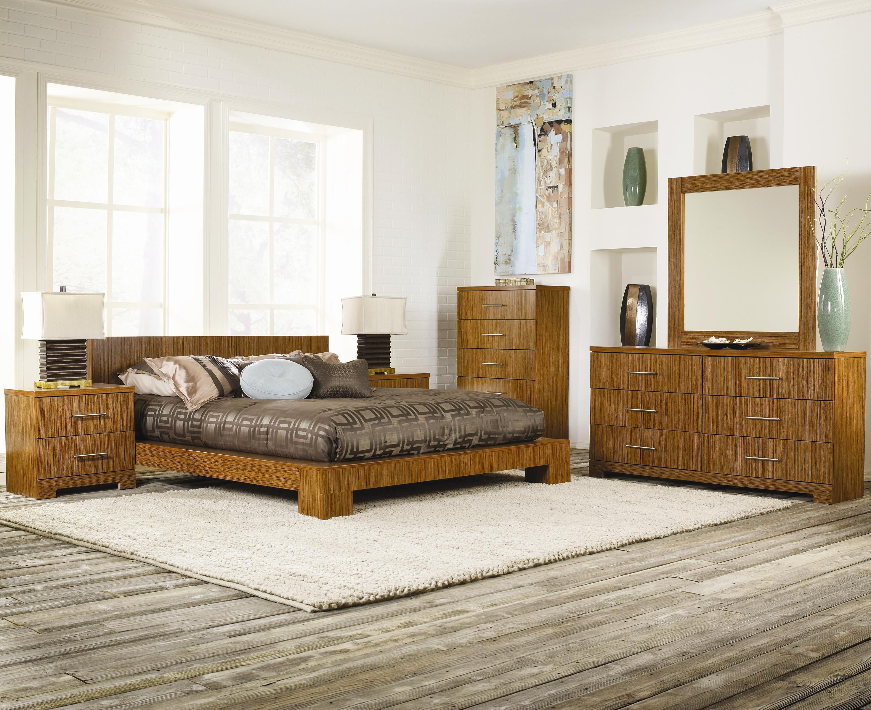 Lang Furniture - Brooklyn Zebrawood Contemporary Loft ...