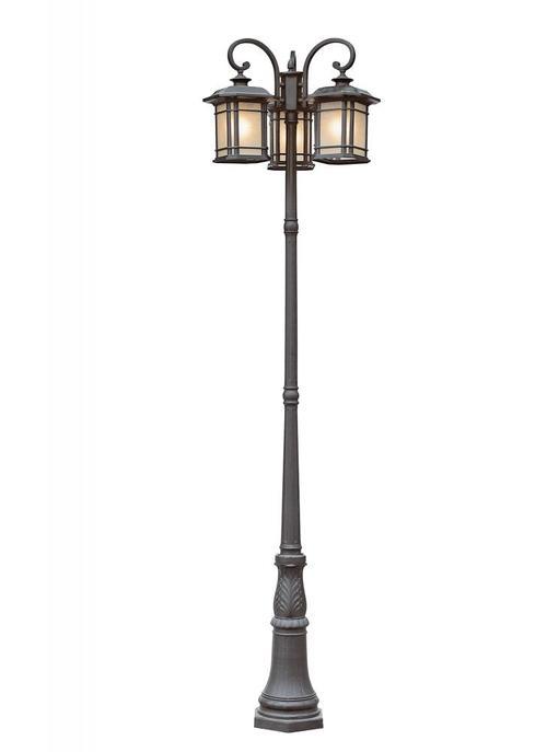 Trans Globe 5827 Bk San Miguel 99 5 Pole Light Lamp Post Lights Lantern Lamp Outdoor Lamp Posts