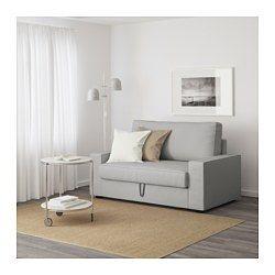 VILASUND Sofá cama 2 plazas Orrsta gris claro | Cama 2