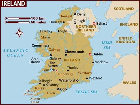 The Symbols And Emblems Of Ireland Ireland Map Ireland Travel