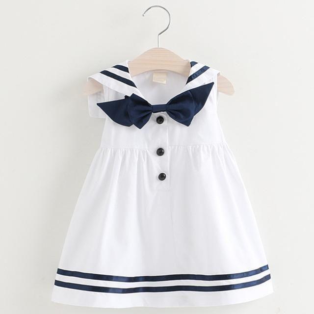9b299e09ac0fa Girls Summer Dress 2018 New Preppy Fashion Style Children Sleeveless ...