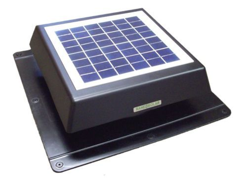 Rand Solar Powered Attic Fan 8 Watt W Roof Top Ventilator New With Images Solar Powered Attic Fan Solar Powered Fan Attic Fan