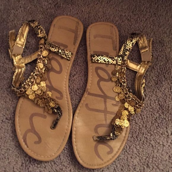 Traffic size 6 gold coin sandal Traffic size 6 gold coin sandal NOT FP Free People Shoes Sandals