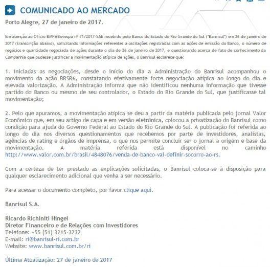 RS Notícias: Bovespa pede informações sobre valorização superio...