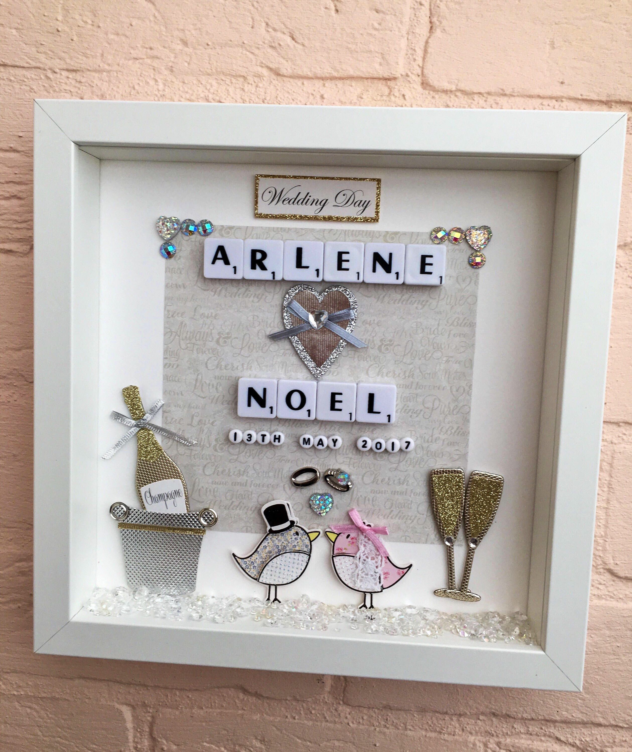 Personalised Wedding Gift Frame Memory Keepsake
