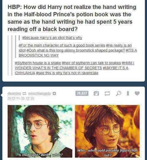 29 Times Tumblr Raised Serious Questions About Harry Potter Harry Potter Universal Harry Potter Obsession Harry Potter Funny