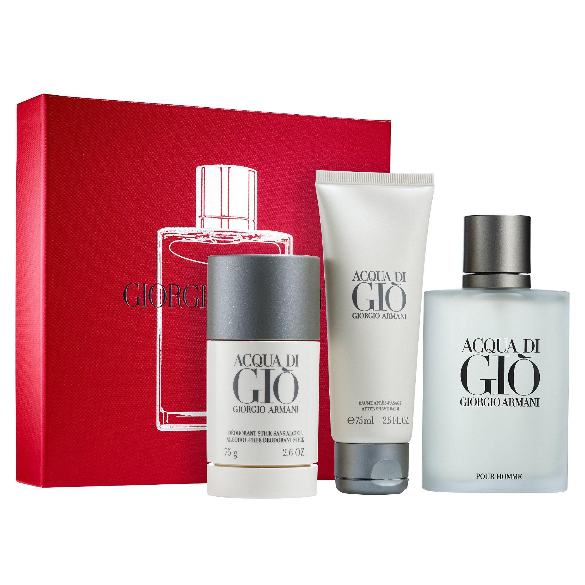 Shop the Acqua Di Gio Set by Giorgio Armani at Sephora. This set contains Eau de Toilette, Deodorant Stick, and After Shave Balm with scent of Acqua Di Gio.