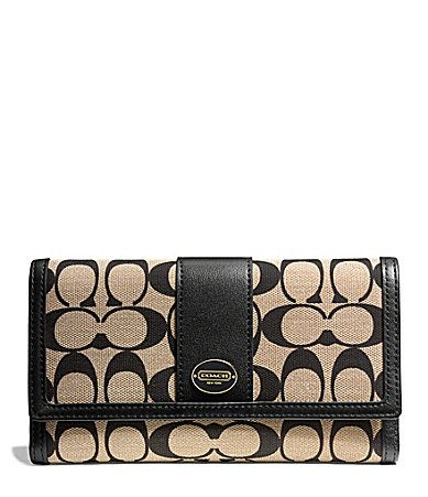 Coach Legacy Checkbook Wallet In Printed Signature Fabric Dillards