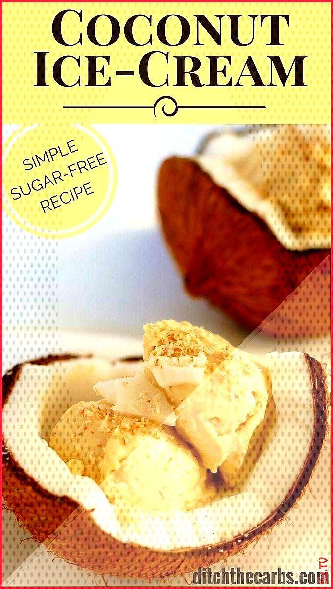 Sugar Free Coconut Ice Cream incredibly easy recipe Sugar Free Coconut Ice Cream incredibly easy