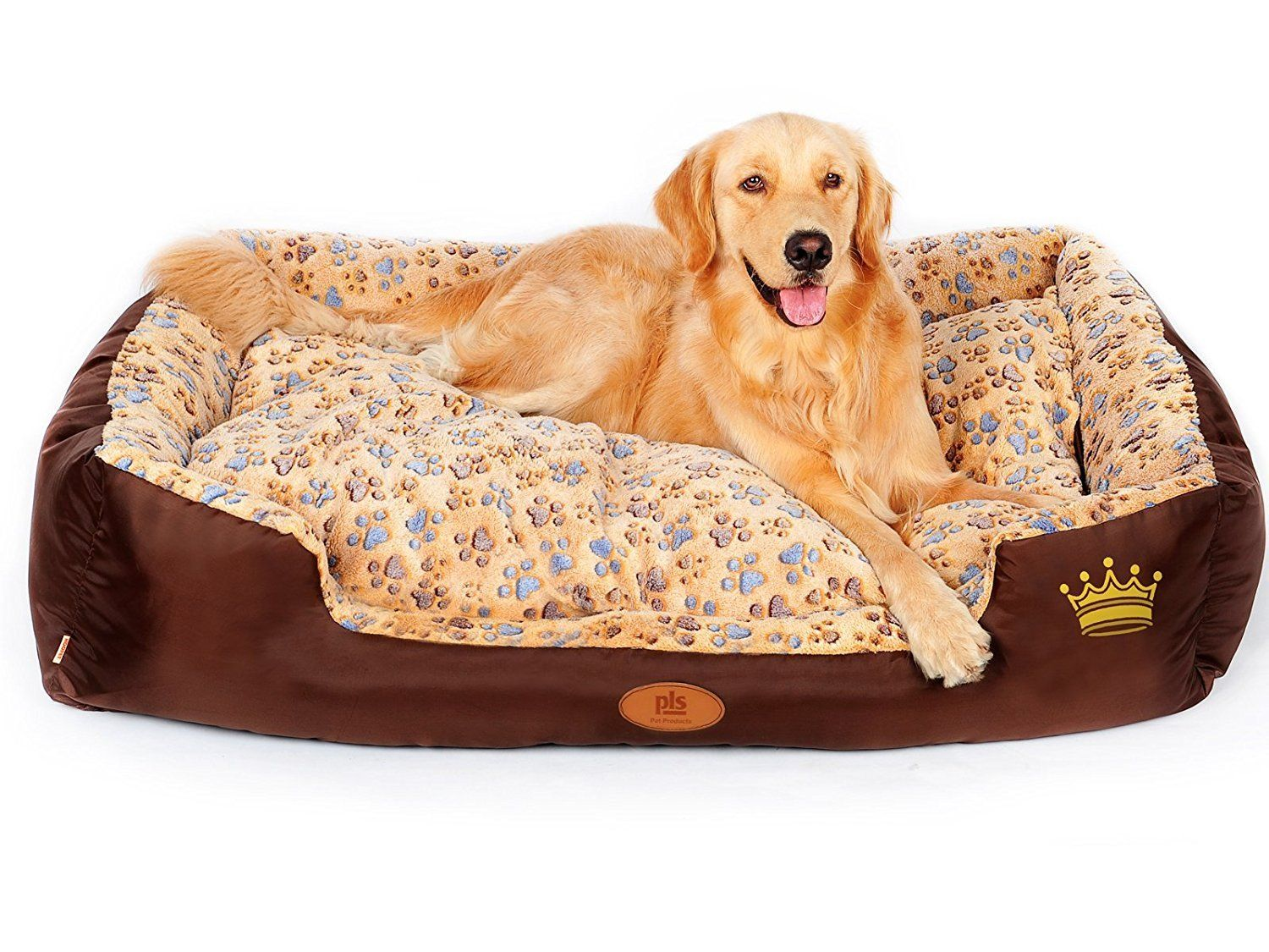 Pls Paradise Bolster Dog Bed With Pillow Extra Plush Completely