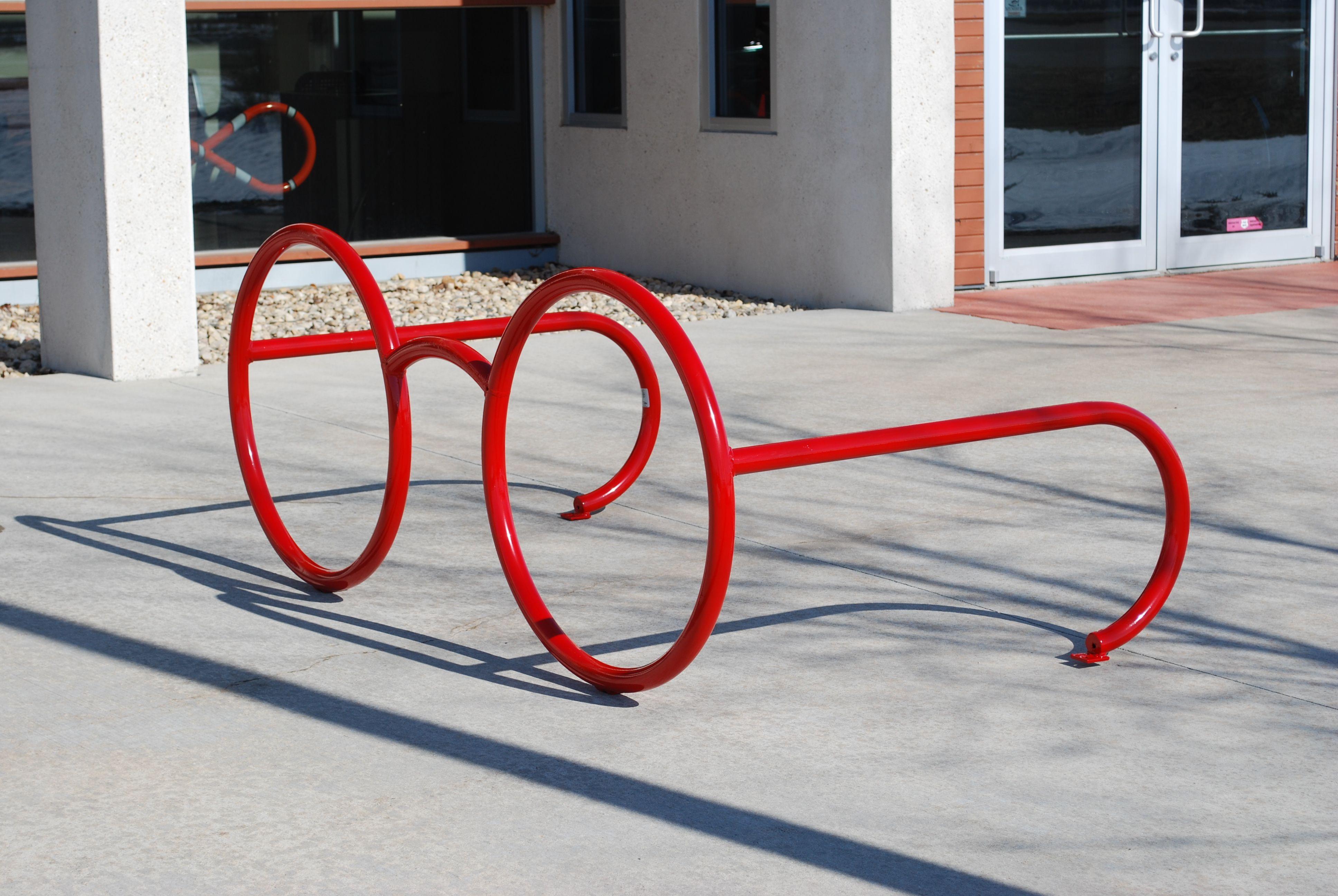 custom eye glasses bike rack by madrax