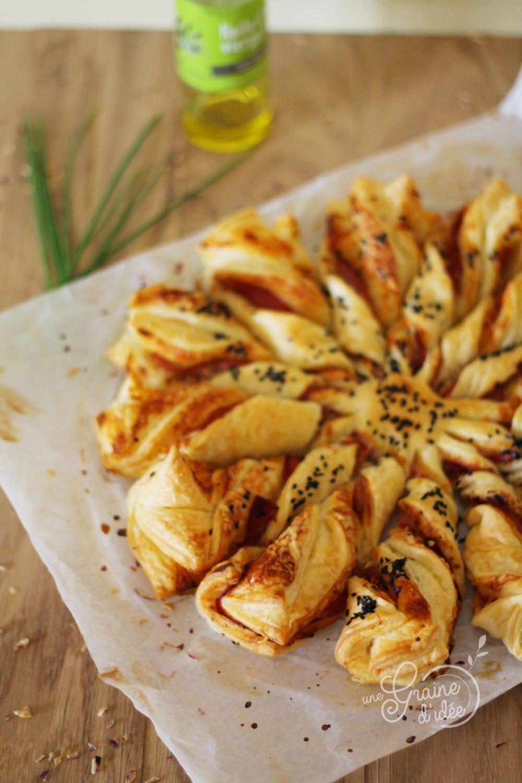 Soleil feuillet pour l 39 ap ro une graine d 39 id e food addict pinterest soleil - Idee pour l apero ...