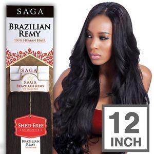 100 Milky Way Saga Brazilian Remy Human Hair Weave Yaky Straight 12 Inch Weave Hairstyles Remy Human Hair Human Hair