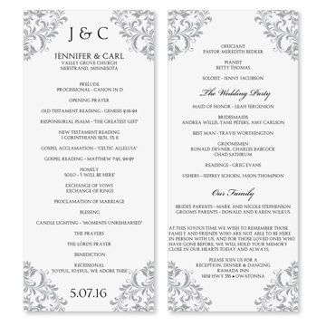 wedding program template instant download by diyweddingtemplates