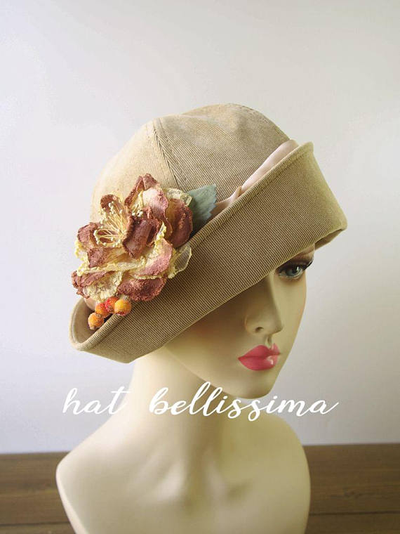 SALE 1920 s Hat Vintage Style hat winter Hats hatbellissima ladies hats  millinery hats Hats with a fc9f1c2ca5a