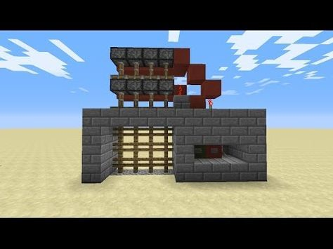 How to make a Portcullis Gate castle gate in Minecraft YouTube