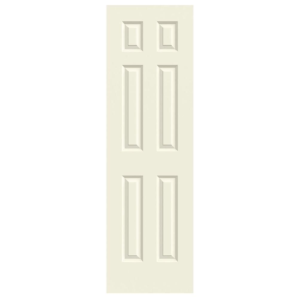 Jeld Wen 24 In X 80 In Smooth 6 Panel Solid Core Painted Molded