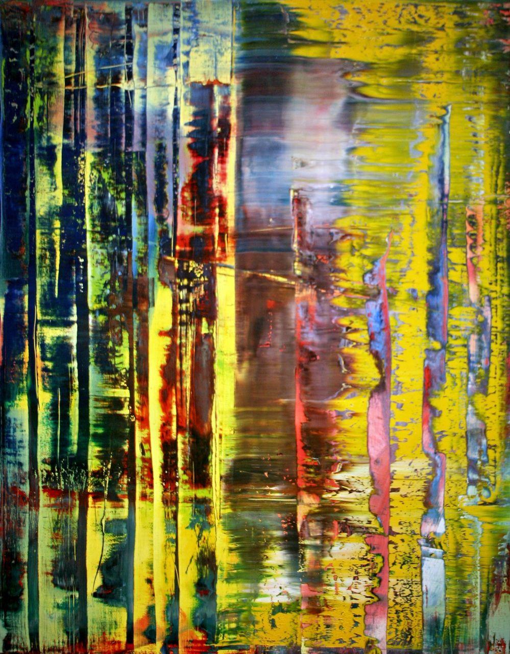 abstract painting 780 1 1992 by gerhard richter abstrakt abstrakte malerei kunst gemalde bild frau bilder blau