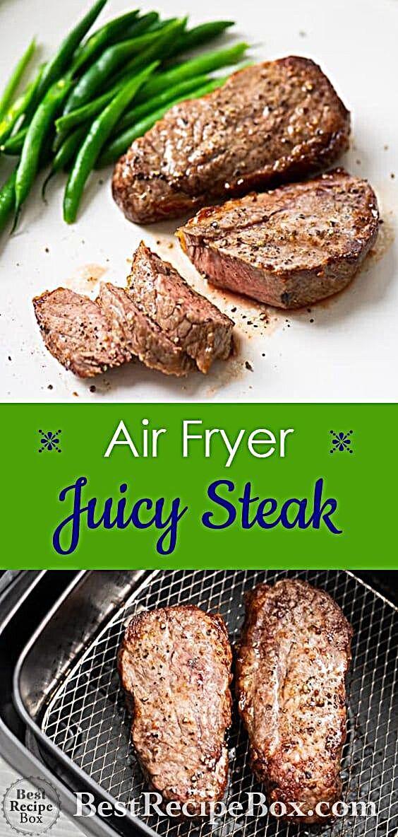 Air Fryer Steak Recipe Air fryer dinner recipes, Air