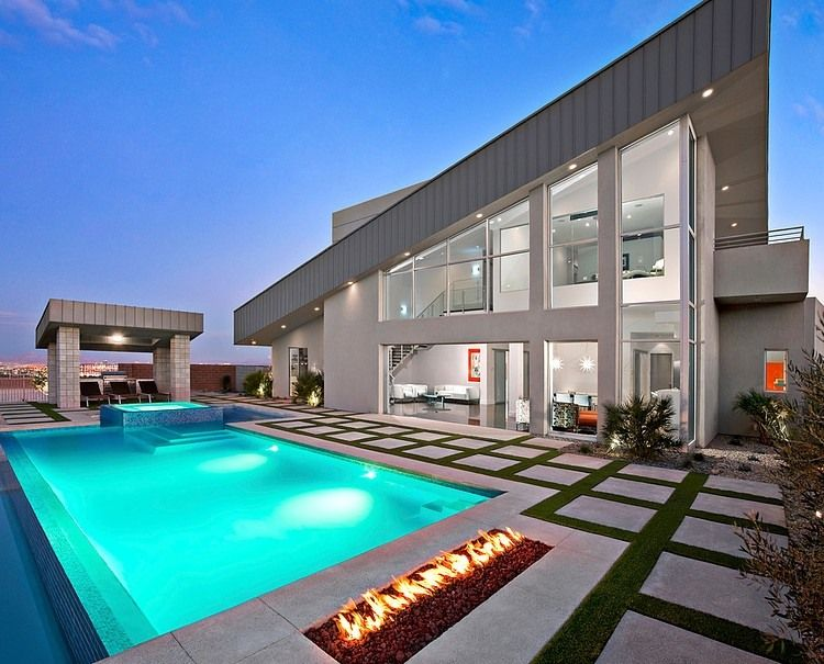 Contemporary Two Storey Single Family Residence Designed By Simply Modern  Located In Las Vegas,