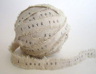 Ribbon 'i love you'