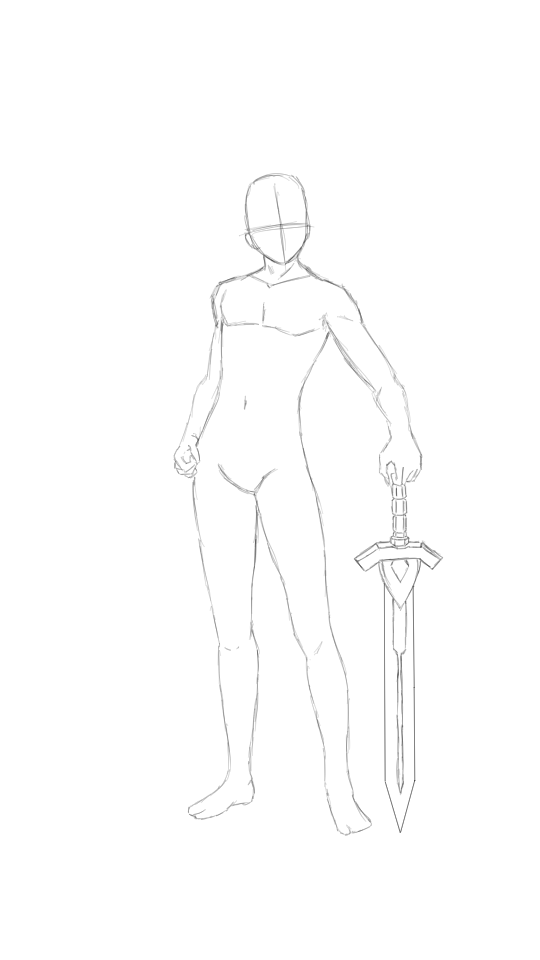 Man With A Sword Drawing Poses Body Pose Drawing Sword Drawing