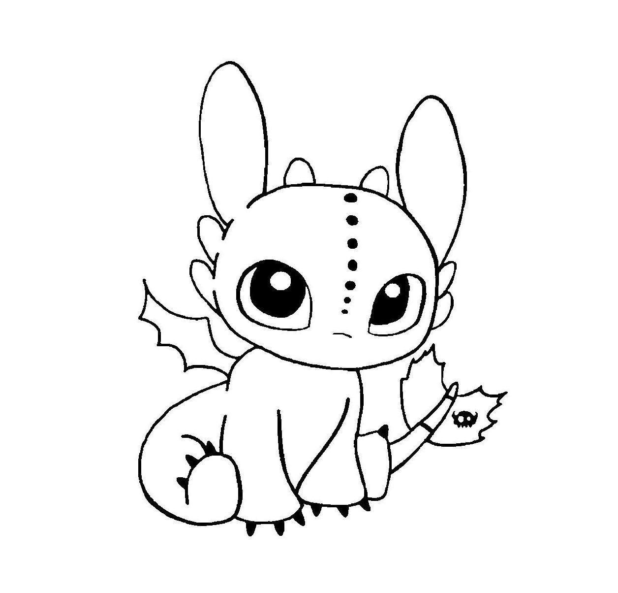 Toothless Baby Dragon Coloring Page Cute Toothless Dragon Drawing