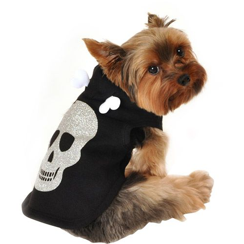 Simply Dog Skull Dog Hoodie, Black, (Multiple Sizes Available): Dogs : Walmart.com