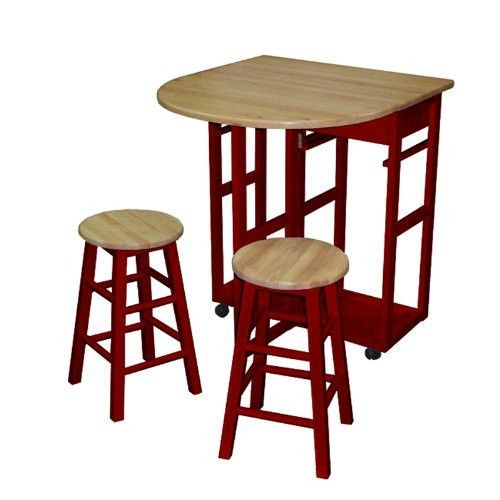 casual home breakfast cart with drop leaf table red 355 29 rh pinterest ca