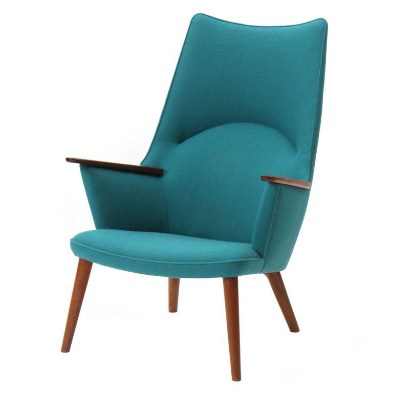 Mcm Talll Back Square Arm Accent Chair: High Back Chair By Hans J. Wegner #mcm #chair