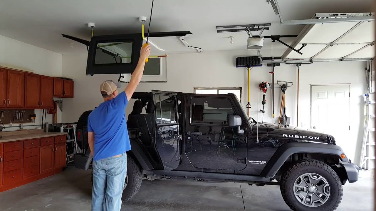 Concealed Jeep Hardtop Lift With Electric Hoist Jeep Wrangler