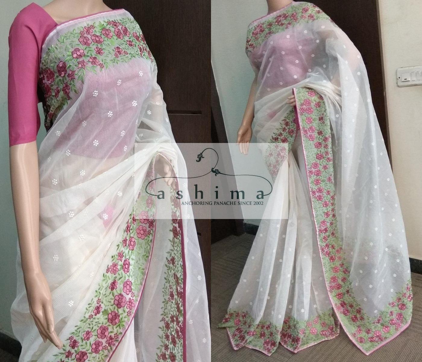 Images of saree code  price inr  kota saree with embroidered border