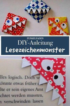 Einfache Bastelanleitung für Lesezeichen-Monster #weihnachtsbastelnmitkindernunter3