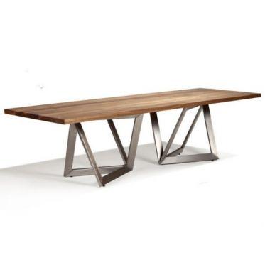 Table repas Origami bois avec pieds en inox | Le tronc, Plateau en ...