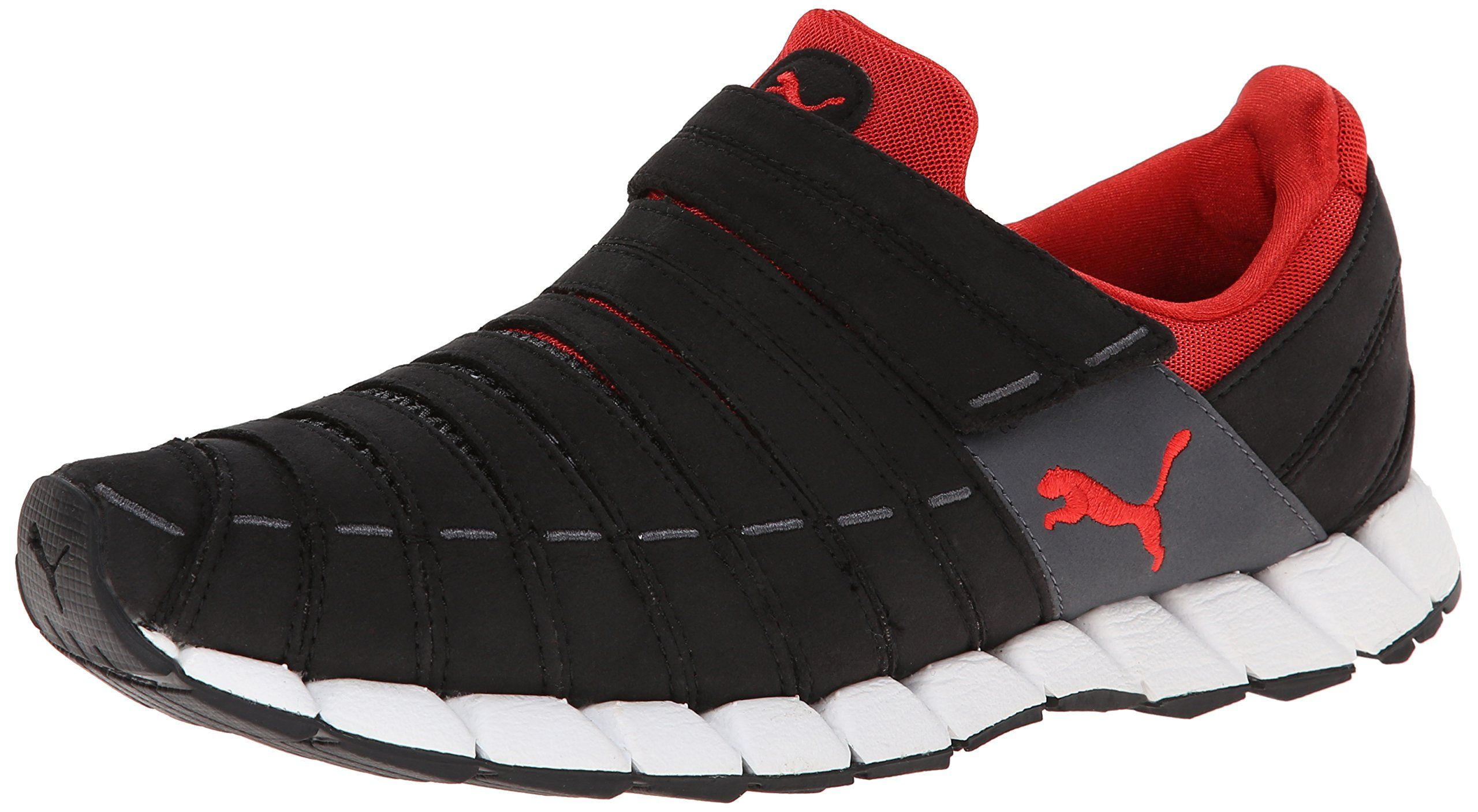 PUMA Men's Osu Running Shoe, BlackDark ShadowHigh Risk Red