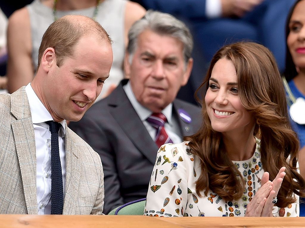The royals were some of the many celebrities at the prestigious tennis tournament