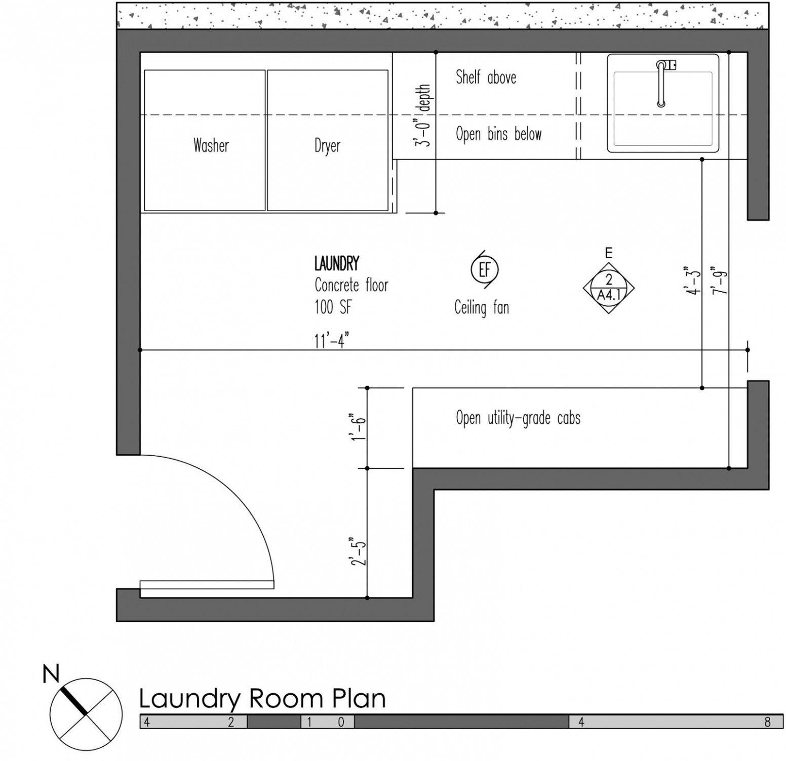 Laundry Room Floor Plan Example