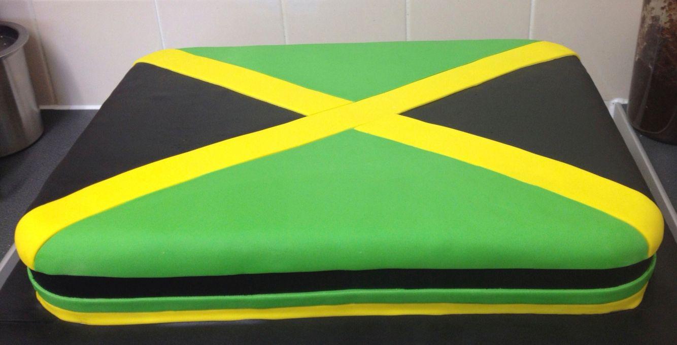 Jamaican Flag Cake Decorations