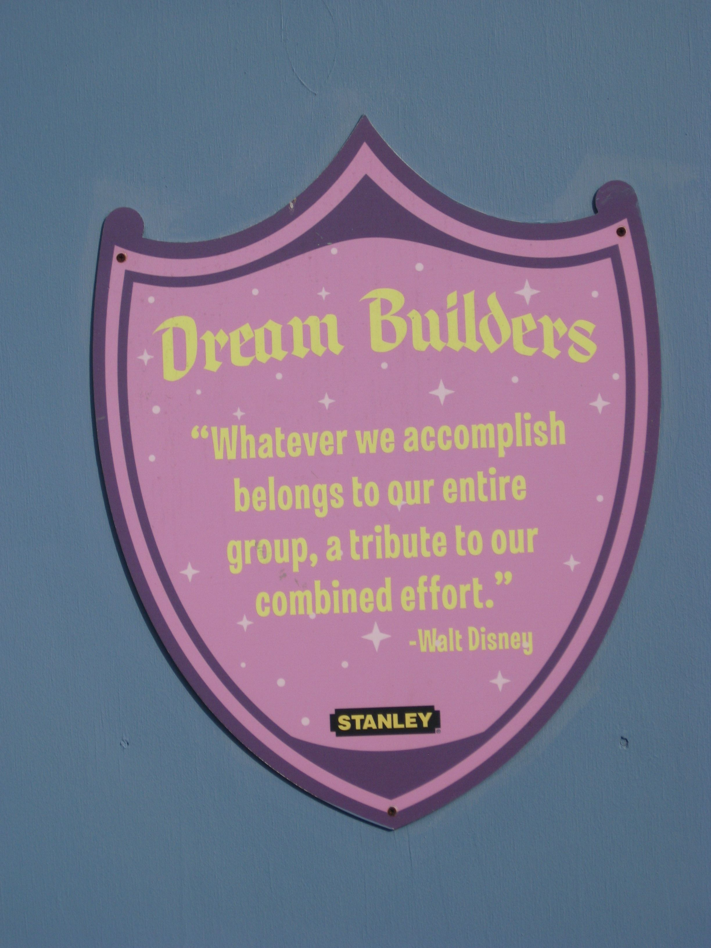 Walt Disney Quote In Fantasyland For Construction  Disney Quotes
