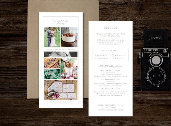 Photographer Rack Card Template Graphicsmag  Flyer Templates