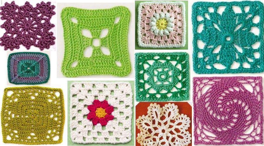 cuadrados-de-la-abuelita-de-ganchillo-16   xela   Pinterest ...