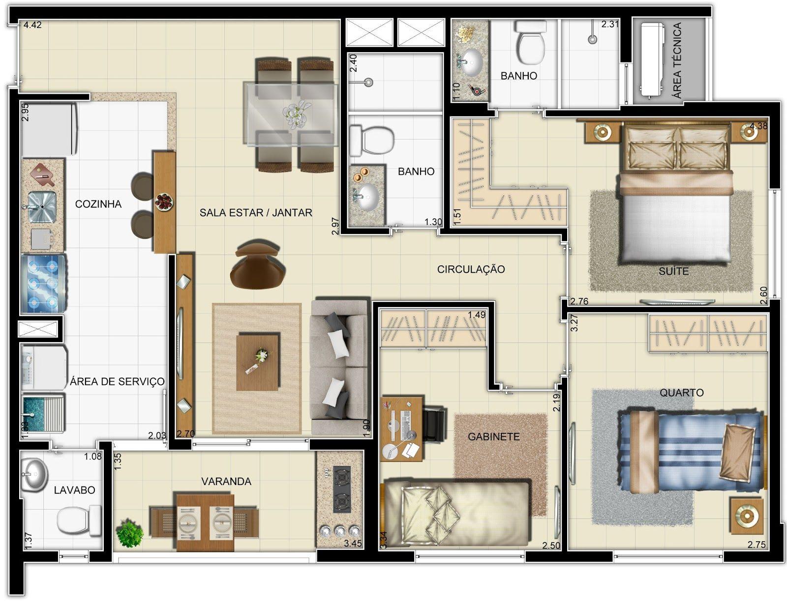 Planta casa pequena planos pinterest planos - Plantas pequenas de interior ...