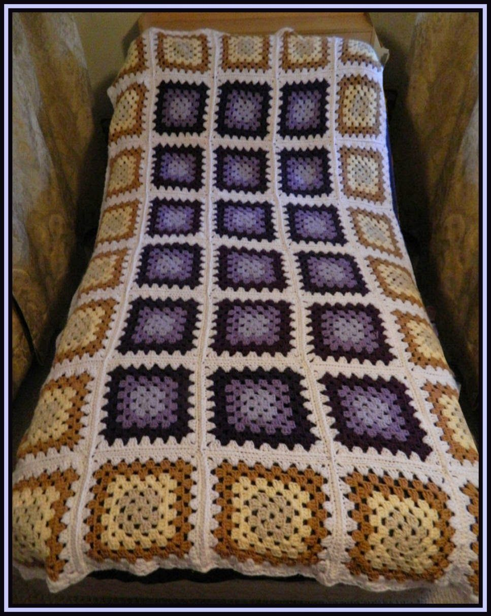 Golden lavender afghan long twin size granny square blanket free crochet patterns for the beginner and the advanced twin size golden lavender traditional granny square blanket bankloansurffo Image collections