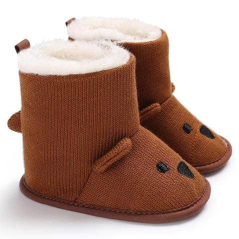 c88169415b9 Raise Young Cartoon Bear Winter Plus Velvet Warm Baby Snow Boots Soft Soles  Crochet Toddler Girl Booties Newborn Infant Shoes From Touchy Style Outfit  ...