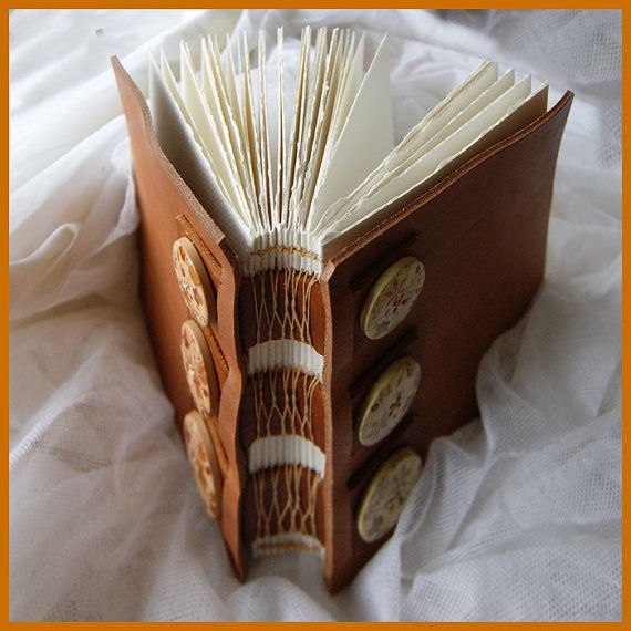 Beautiful Leather Bound Journal In Watercolour By