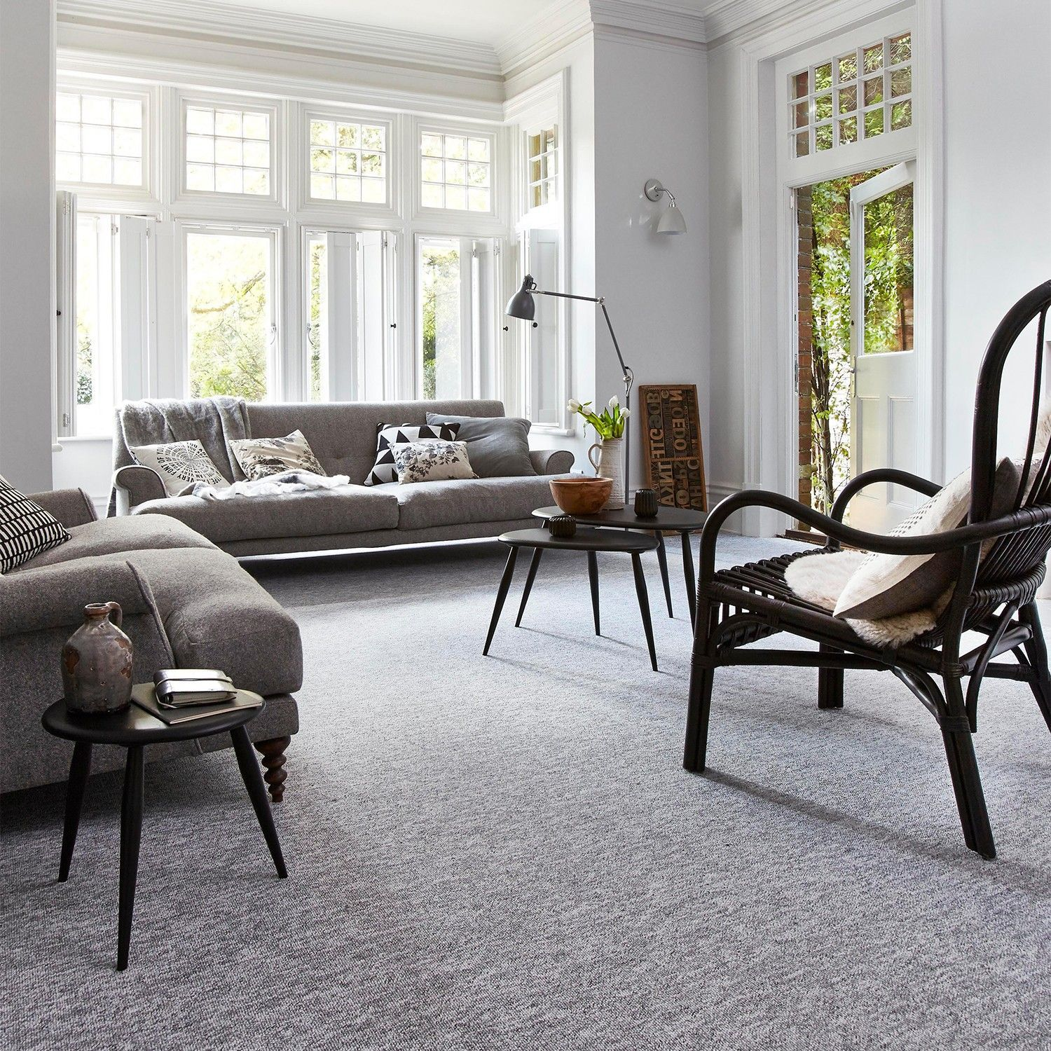 Living Room Ideas White Walls Grey Carpet In 2020 Grey Carpet