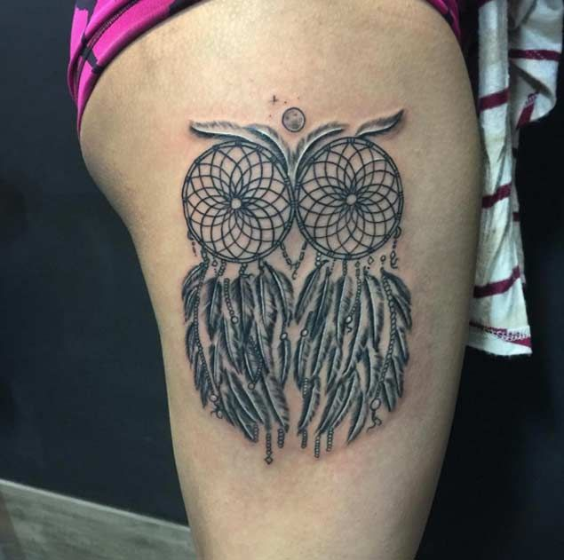Dream Catchers Tattoo Meaning 40 Gorgeous Dreamcatcher Tattoos Done Right Dreamcatcher tattoos 5