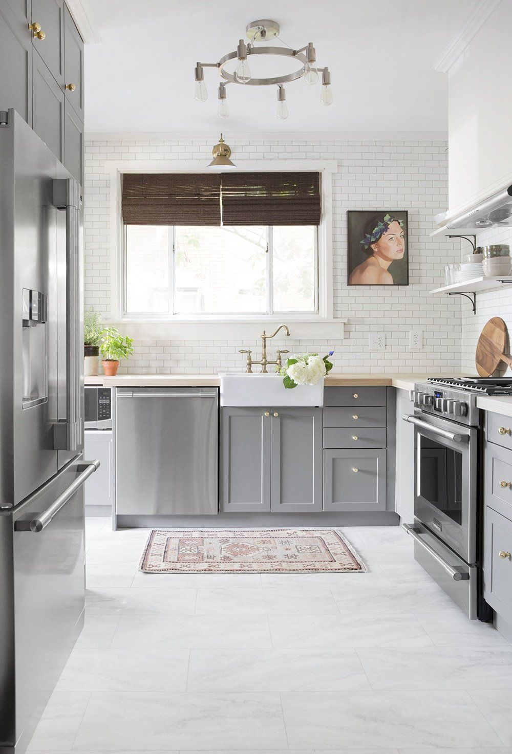 White Vinyl Kitchen Floor Tiles