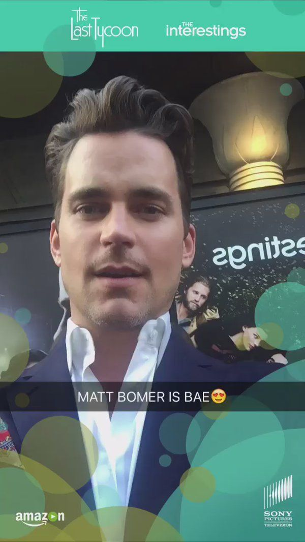 "WhoSay on Twitter: "".@MattBomer giving us life at the wonderful #SocialSoiree for the new series #TheLastTycoon 😍 https://t.co/MdbGg4jcSP"""