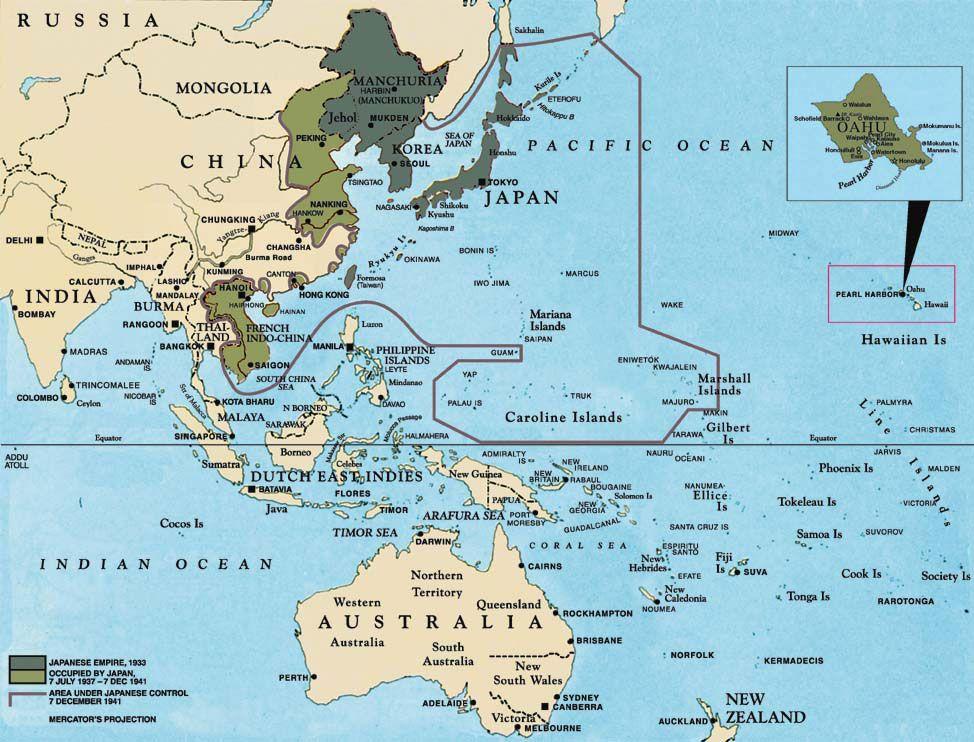 Map Japan World War 2. Map of Japanese Empire  I Love Maps Pinterest History